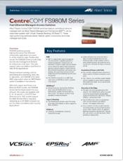 Guia de Produtos - Allied Telesis - CentreCOM FS980M Series