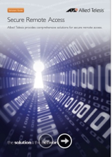 Guia de Produtos - Allied Telesis - Acesso Remoto