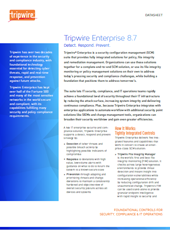 Cyber Security - Tripwire - Enterprise