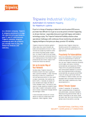 Cyber Security - Tripwire - Industrial Visibility